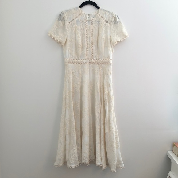 Ever New Midi Dress w Lace Appliqué